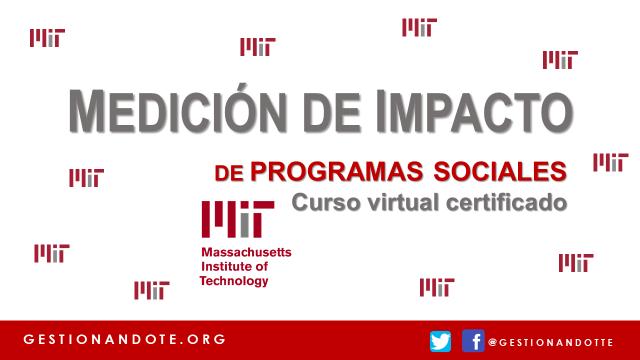 Curso online certificado del MIT sobre evaluación de programas sociales