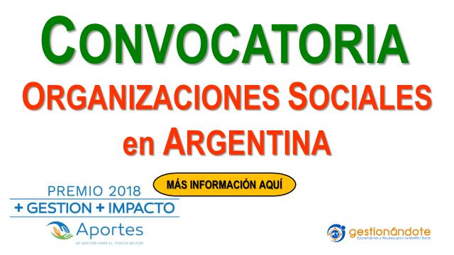 Convocatoria para organizaciones sociales en Argentina