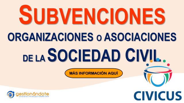 Fondo CIVICUS financia organizaciones y asociaciones de la sociedad civil