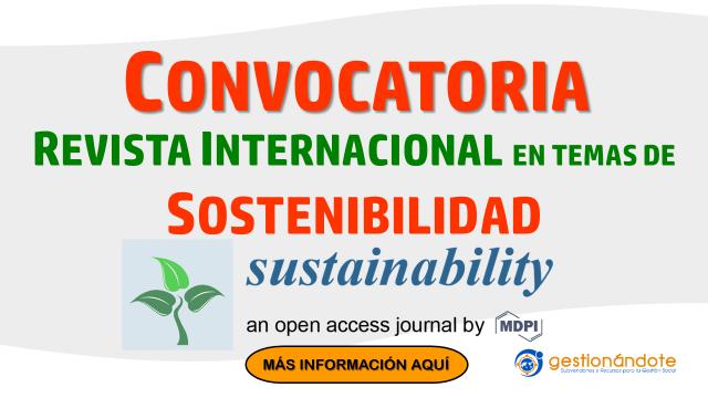 Concurso de editores para revista internacional en sostenibilidad