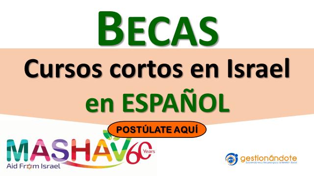 Becas del Gobierno de Israel para cursos cortos en español y en inglés