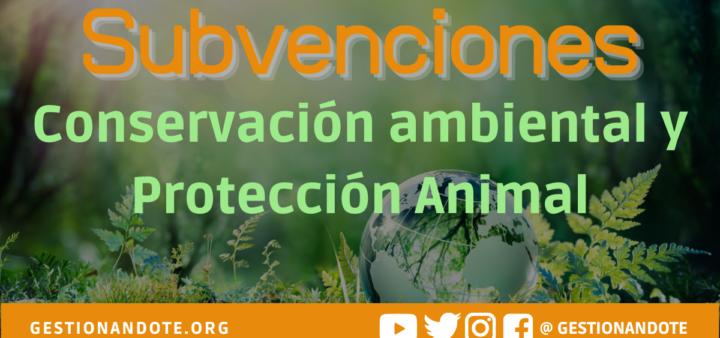 Subvenciones para conservación y protección animal