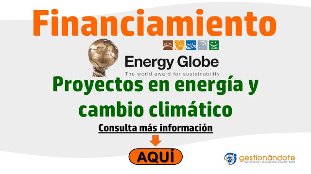 Subvenciones para proyectos en temas de energía y cambio climático