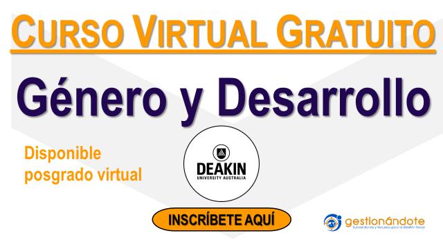 Curso virtual gratuito sobre género y desarrollo – Deakin University