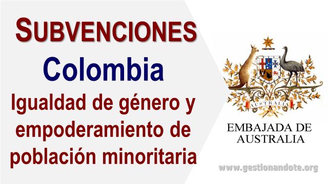Nueva convocatoria de la Embajada de Australia en Colombia para programa de ayuda directa
