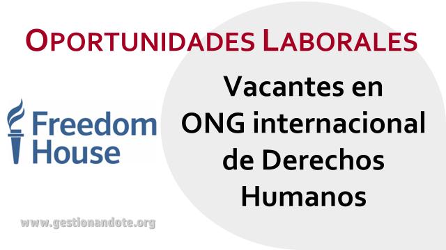 Oportunidades laborales en ONG internacional de derechos humanos