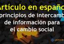 7 Principios de intercambio de información para el cambio social