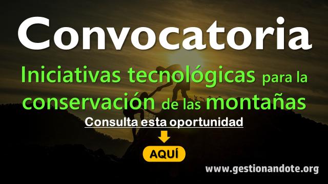 Postúlate al premio a la innovación TIC para la conservación de las montañas
