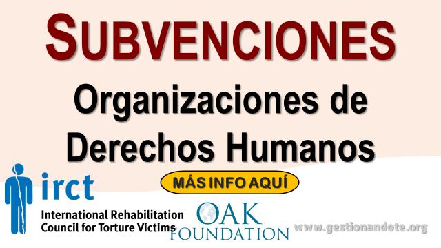 Subvenciones para organizaciones de Derechos Humanos