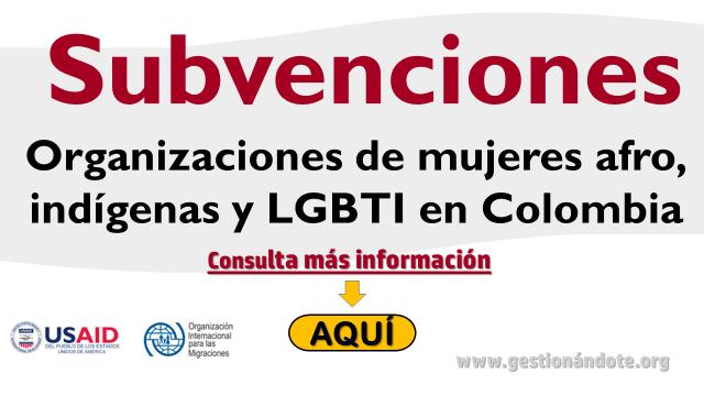 OIM y USAID financian organizaciones de mujeres afro, indígenas y LGBTI en Colombia