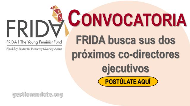 Fondo FRIDA busca los próximos co-directores ejecutivos ¡Postuláte!