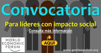Convocatoria para líderes con impacto social