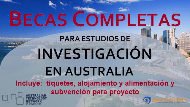 Becas de ATN en Australia para estudios de investigación