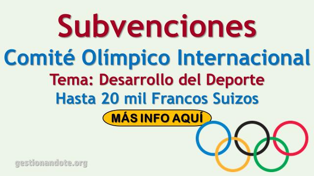 Comité Olímpico Internacional entrega subvenciones para el desarrollo del deporte