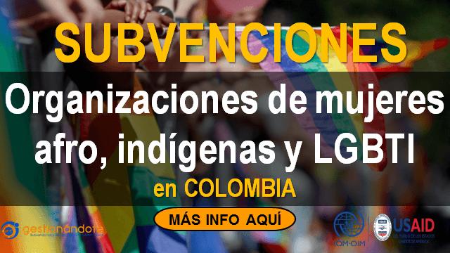 Convocatoria para organizaciones de mujeres y/o personas LGBTI afrocolombianas e indígenas