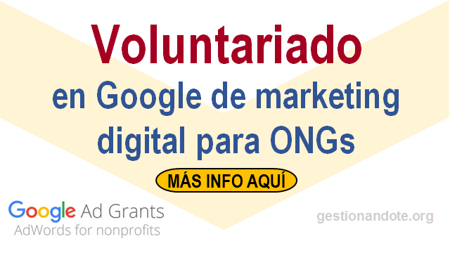 Voluntariado en Google Ad Grants para apoyar a ONG en marketing digital