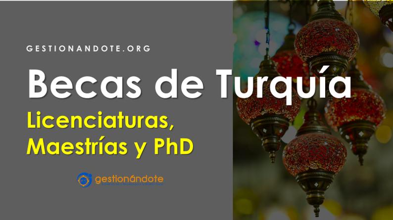 Becas completas de Turquía para cursos, licenciaturas y posgrados