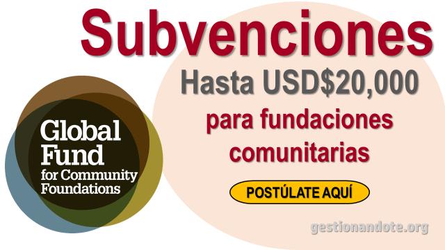 Solicita una subvención al Fondo Global para Fundaciones Comunitarias – GFCF