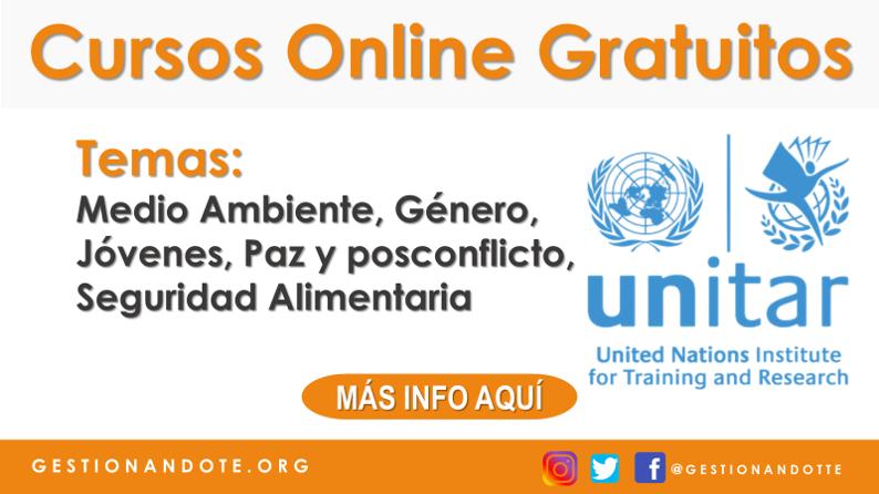 Cursos online gratuitos de Naciones Unidas – UNITAR