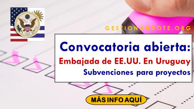 Embajada de EE.UU. en Uruguay financia proyectos de ONG