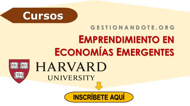Harvard ofrece curso gratuito en emprendimiento en economías emergentes