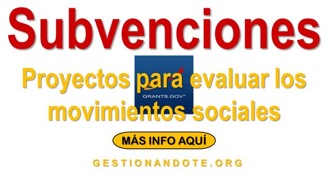 Convocatoria para proyectos de investigación sobre movimientos sociales
