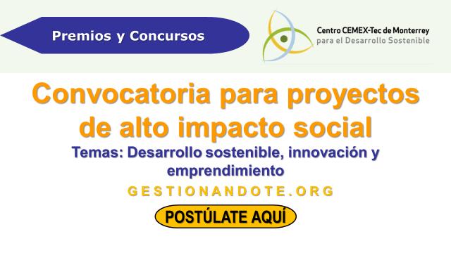 Convocatoria para proyectos sociales – CEMEX-TEC