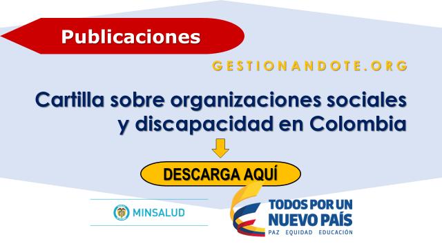 Cartilla sobre organizaciones sociales y discapacidad en Colombia
