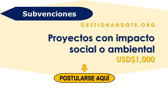 Subvenciones para proyectos con impacto social o ambiental