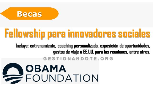 Convocatoria – fellowship  para innovadores sociales