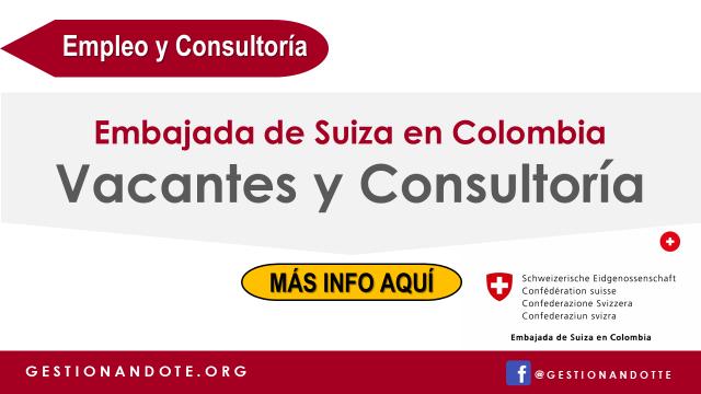 Suiza en Colombia ofrece oportunidades de consultoría