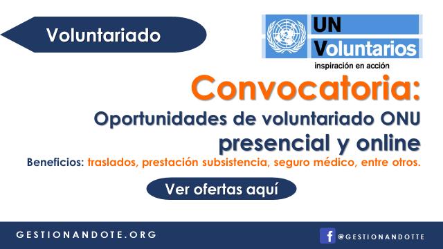 Ingresa al programa de Voluntariado de las Naciones Unidas