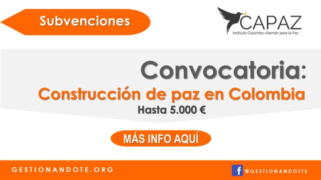 Financiamiento de investigación en construcción de paz en Colombia