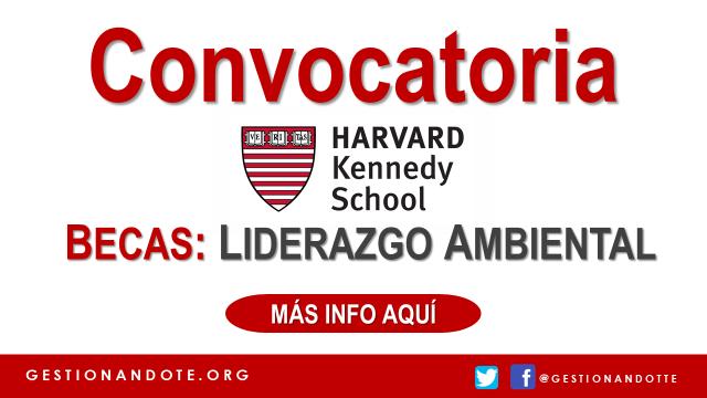 Becas anuales para Liderazgo Ambiental de Harvard Kennedy School