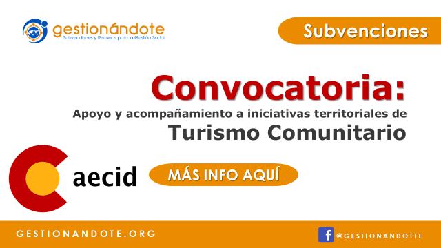 Convocatoria de AECID sobre Turismo Comunitario en Colombia