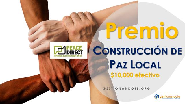$10,000 para proyectos en construcción de paz local