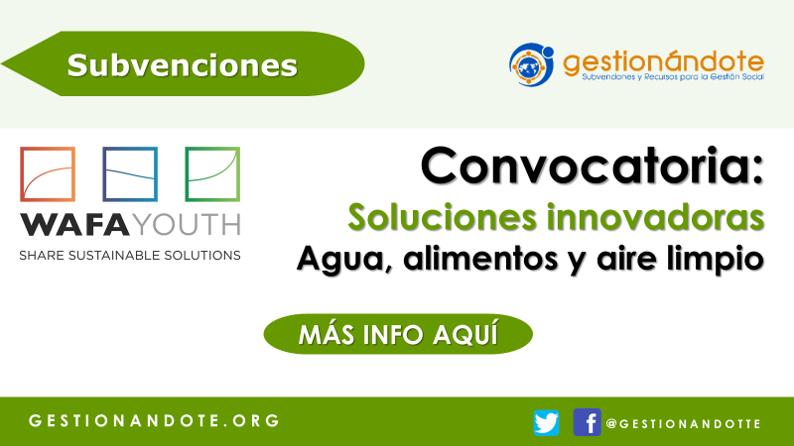Premios WAF para soluciones innovadoras en agua, alimentos y aire