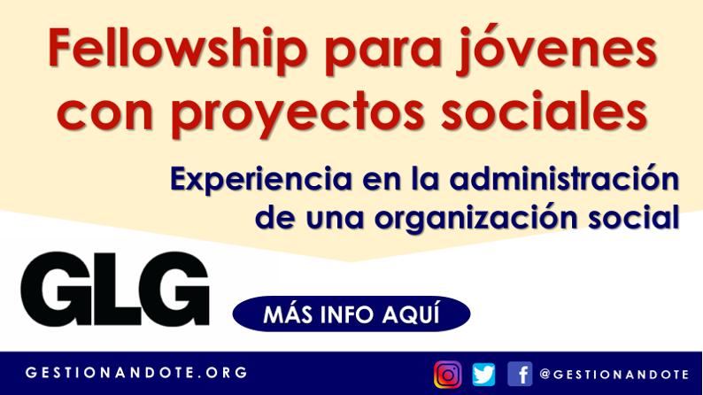 Fellowship para jóvenes con proyectos sociales – GLG Social Impact