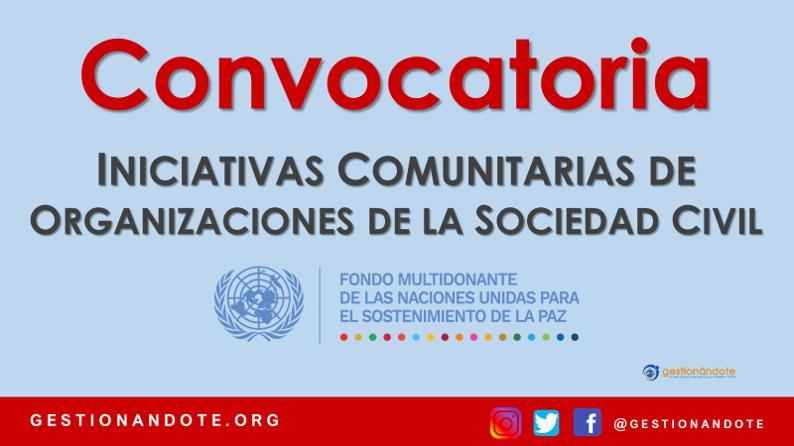 Financiamiento de iniciativas comunitarias en Colombia