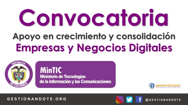 Convocatoria para apoyo a empresas y negocios digitales