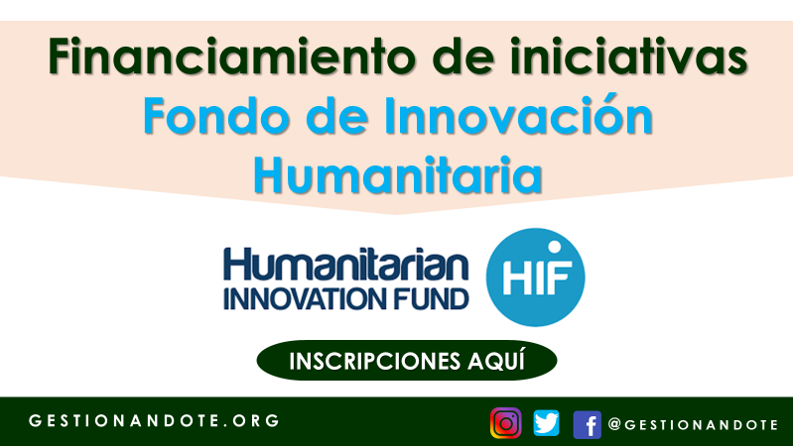 El Fondo de Innovación Humanitaria financia iniciativas