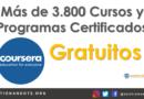 Obtén acceso gratuito a más de 3.800 cursos y programas certificados