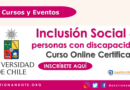 Curso Certificado en Español: Inclusión social de personas con discapacidad