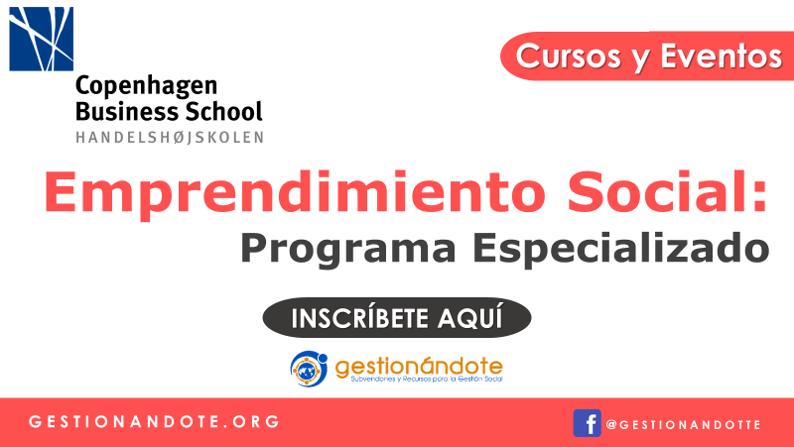 Programa especializado: emprendimiento social