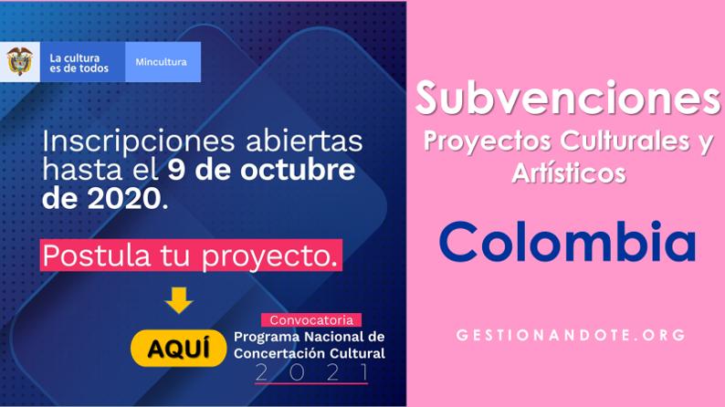 Financiamiento de Proyectos Culturales y Artísticos en Colombia