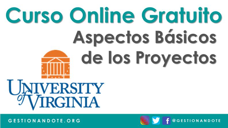 Curso Gratuito Online: Aspectos básicos de los proyectos