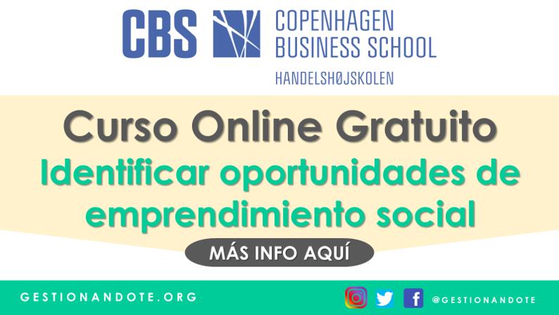 Curso para identificar oportunidades de emprendimiento social