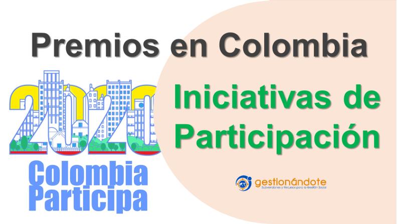 Premios en Colombia para iniciativas de participación ciudadana