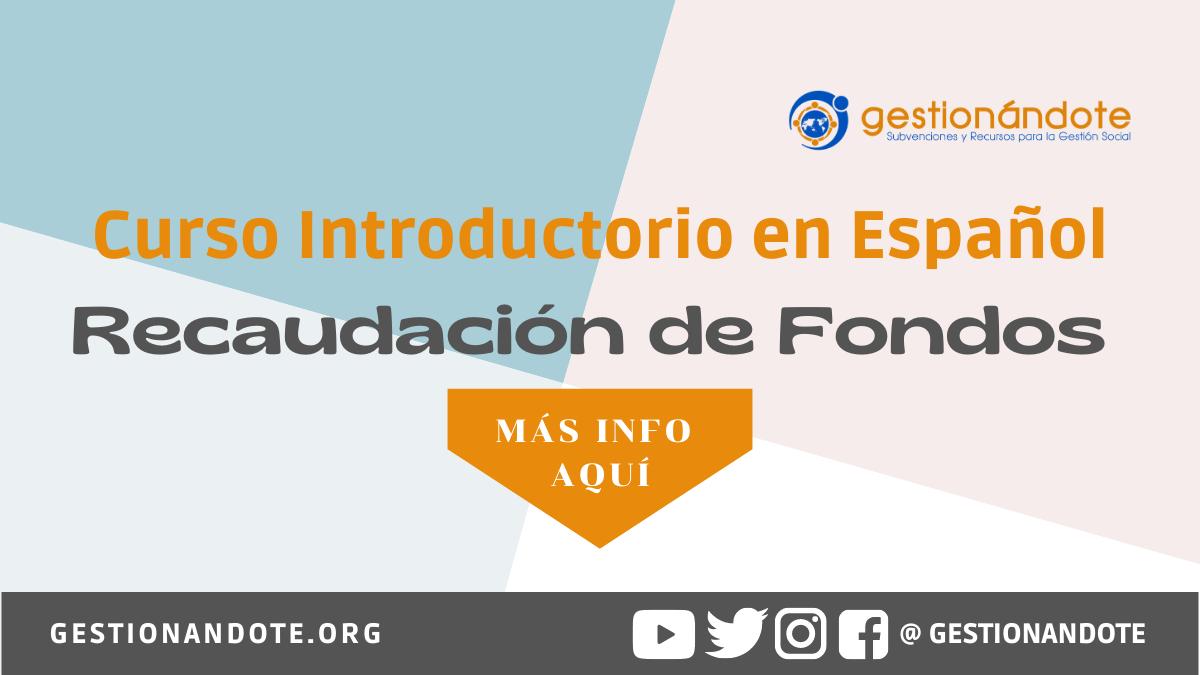 Curso Introductorio en Español en Recaudación de Fondos