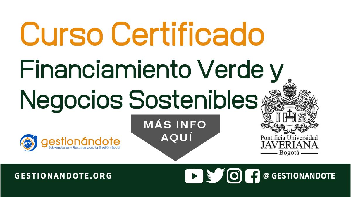 Curso Certificado para hacer negocios sostenibles
